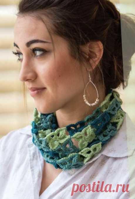 1502 - шарфи, шалі, палатини - В'язання для жінок - Каталог статей - Md.Crochet