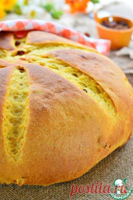 Хлеб тыквенный с изюмом - кулинарный рецепт