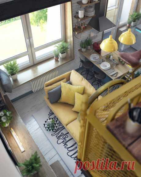 Как дизайнеры увеличили площадь квартиры на 15 квадратов   Свежие идеи дизайна интерьеров, декора, архитектуры на INMYROOM