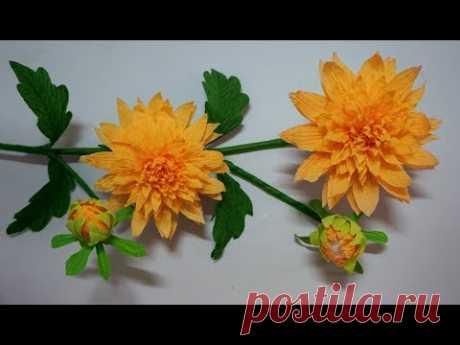 Flores de papel crepe - Como hacer flor de papel - Manualidades