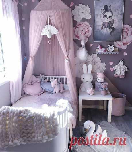 Очень милый интерьер детской комнаты