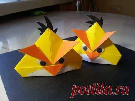 Оригами Angry Birds. Поделки из бумаги