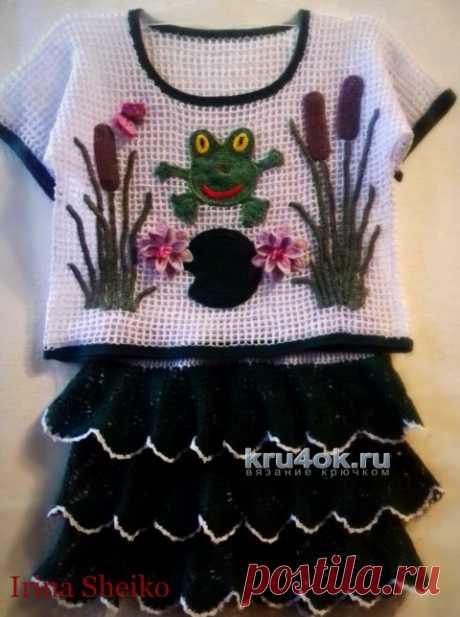 Топ и юбка для девочки. Работы Ирины - вязание крючком на kru4ok.ru