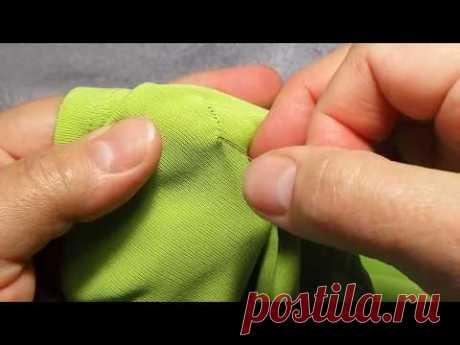 Как зашить дырку потайным швом. Secret seam