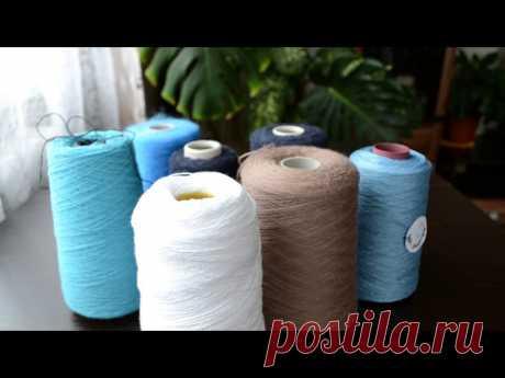 Вязание . Бобинная пряжа , новый процесс платье от ZARA  и готовая работа .