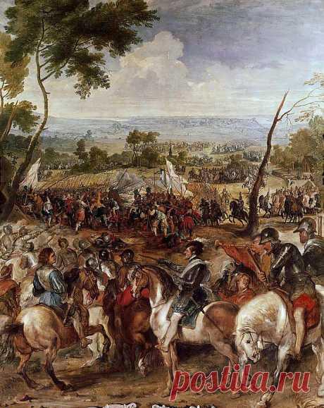 Нерих IV в битве при Мартен-Энглиз (совместно с Питером Снайерсом). Питер Пауль Рубенс. Описание картины, скачать репродукцию.