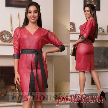 Платье с блестящим напылением