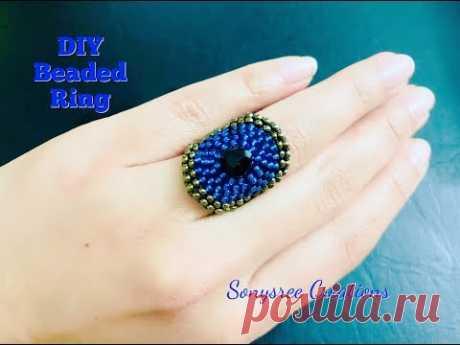Circular brick stitch Ring Beaded Ring 💞