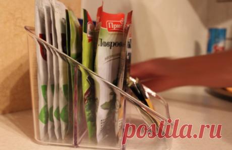 Как хранить пакетики со специями: идеи на фото