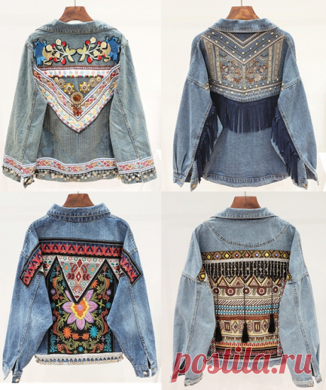 Идеи переделки джинсовой курточки - из того, что найдется под рукой | МНЕ ИНТЕРЕСНО | Яндекс Дзен