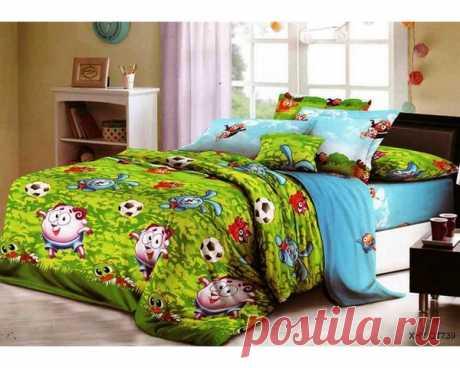 купить комплект постельного белья Слим-сатин QT739 простыня 150х210, пододеяльник 147х210, наволочка 70х70- 2шт