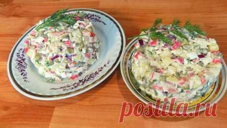 Салат из крабовых палочек с яйцом и зеленым горошком - пошаговые рецепты с фото на povarenok.by