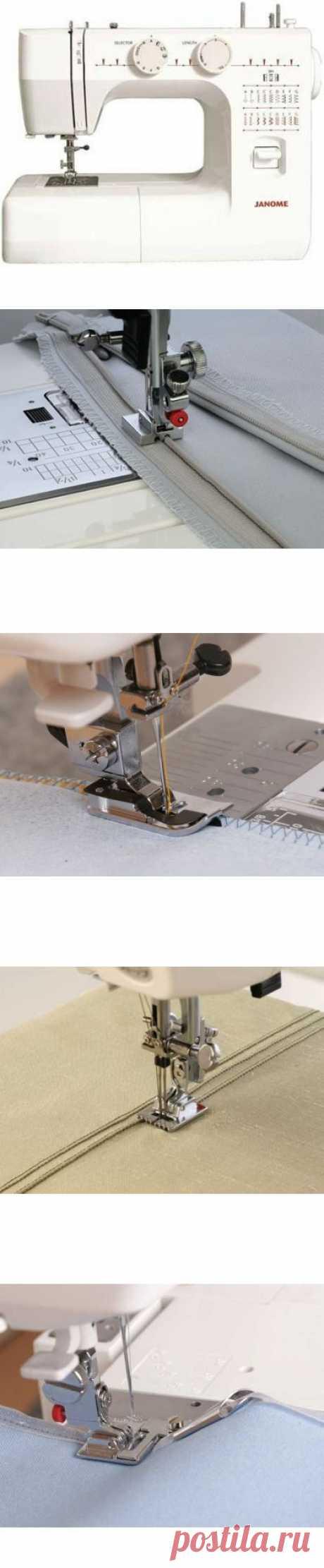 Как пользоваться дополнительными лапками для швейных машин JANOME и FAMILY .