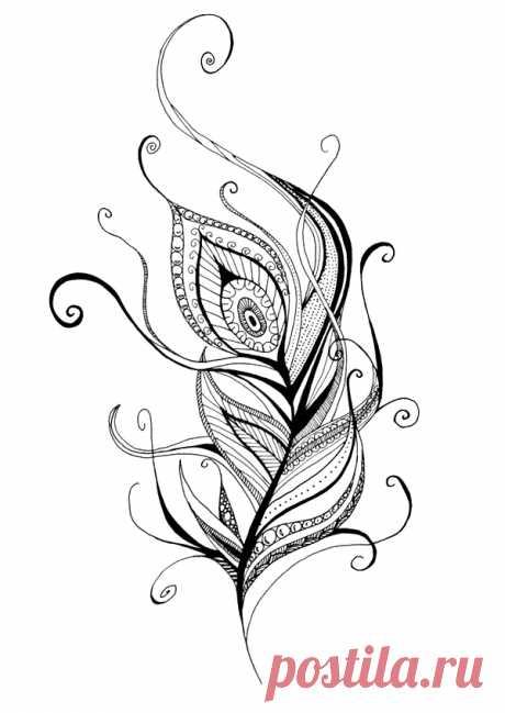 Жар-птица. Роспись + Картинки + Шаблоны