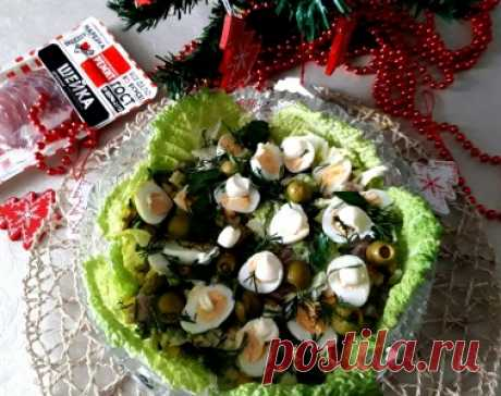 """Салат """"Новогоднее гнёздышко"""" - Простые рецепты Овкусе.ру"""