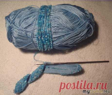 Мастер-класс: вязание с бисером