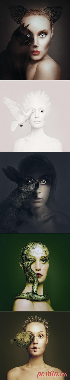 Автопортреты с глазами животных Флоры Борси (Flóra Borsi) — Фотоискусство