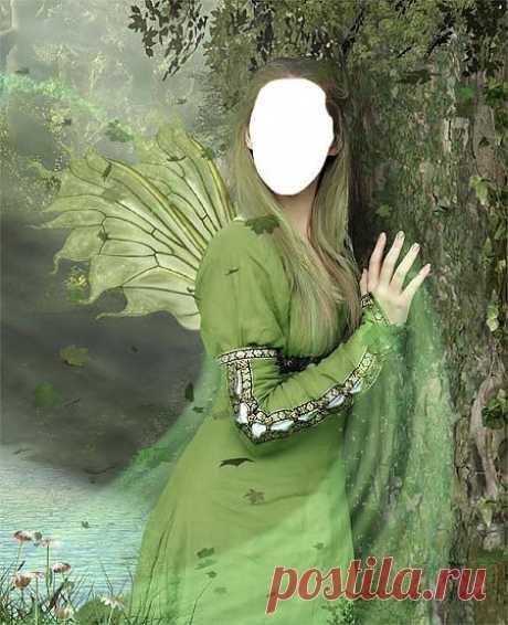 Скачать Шаблон для фото - Сказочная фея.