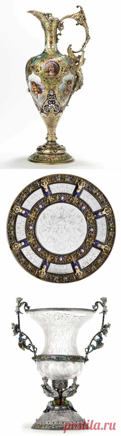 в коллекцию...Венская эмаль и серебро,конец XVIII - начало XIX столетия.