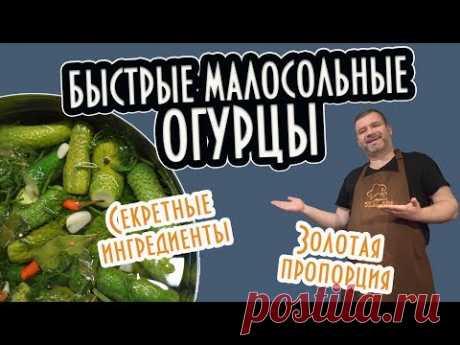 Малосольные Огурцы Быстрого Приготовления + Правило ЗОЛОТОЙ ПРОПОРЦИИ РАССОЛА!
