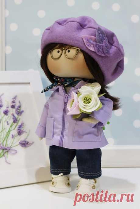 Кукла интерьерная по фото, рост 25 см 💜 Автор: Роза Шелковая