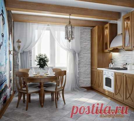 Интерьер кухни в классическом стиле. Вам нравится?
