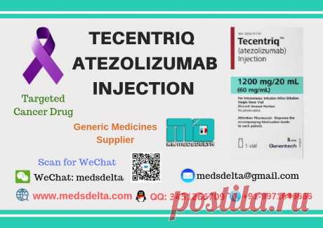 MedsDelta a trusted generic medicines supplier provides original Atezolizumab Injection sold under the trade name #Tecentriq which is a targeted cancer drug used to treat a certain type of cancer, manufactured by Genentech subsidiary of Roche. Buy Tecentriq 1200mg Injection Online at wholesale price with the original quality assurance only from #MedsDelta a generic medicine supplier or worldwide exporter.