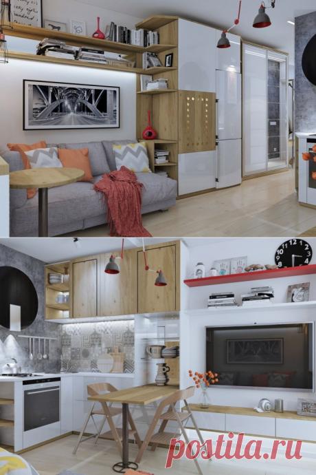 Дизайн интерьера маленькой квартиры — всего лишь 18 кв. м - Дизайн интерьеров   Идеи вашего дома   Lodgers