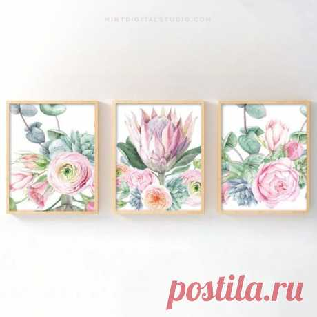 There's nothing more perfect for your little one's room than this soft set of King Protea fine art prints. Traditionally, Protea represents change and hope – two beautiful concepts to embrace with…