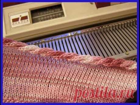El tratamiento del borde de la tela tselnovyazannym por el cordón el Modo 3