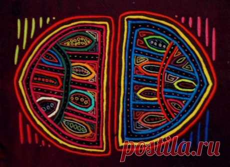 Kuna Indian Hand-Stitched Cell Division Mola-Panama 18051003L | eBay