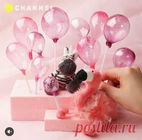 Тортик со съедобными воздушными шарами (diy) Модная одежда и дизайн интерьера своими руками