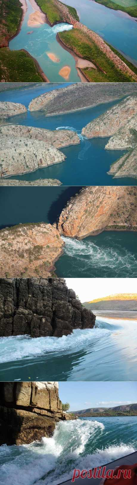 Horizontal falls of a bay of Talbot | In the world of interesting
