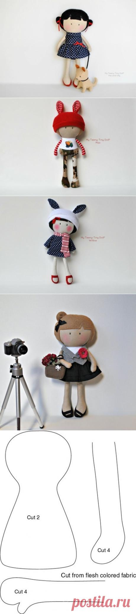 Милые куколки. Выкройки.