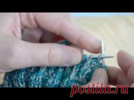 (4) Носки спицами. Вязание уплотненной стопы. - YouTube