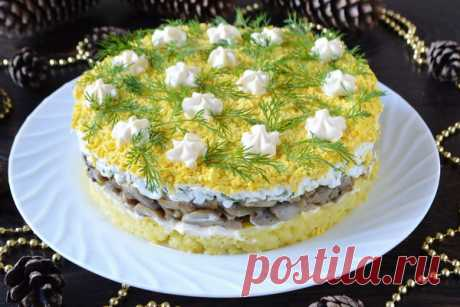 Салат Грибы под шубой – рецепт с фото пошагово