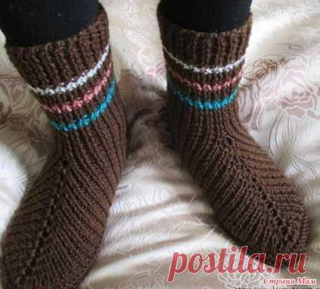 Оригинальные носочки на двух спицах (НАХОДКА) - Вязание - Страна Мам