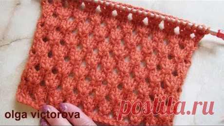 Openwork pattern holes Knitting by spokes 348
