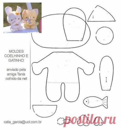 Muchos patrones de juguetes y muñecas.