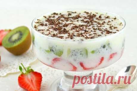 Фрукты в зефирном креме на десерт, рецепт с фото — Вкусо.ру