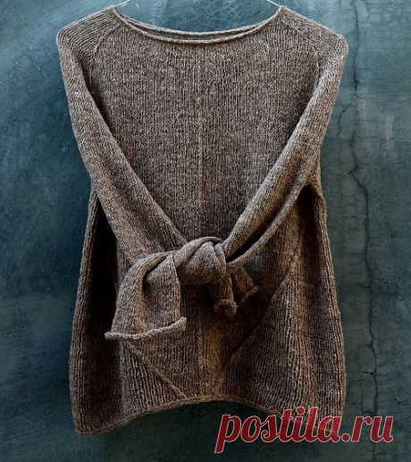 Пуловер реглан сверху Heritage - Вяжи.ру