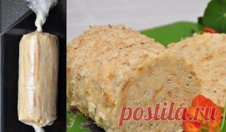 Торт «Слоеное полено»: Вкусно и очень оригинально! - Fav0rit77.ru Ингредиенты: — 500 гр бездрожжевого слоеного теста — 350 гр сливочного масла...