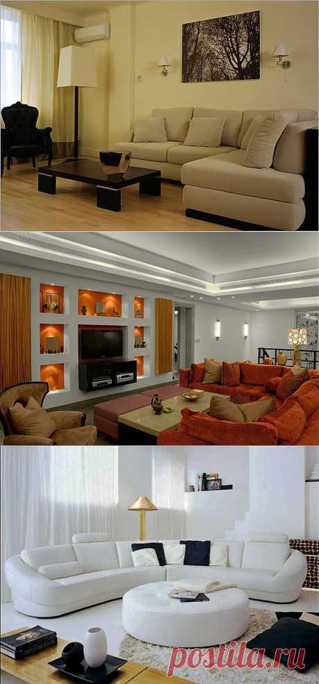 (+1) тема - Угловой диван в интерьере вашей гостиной   Интерьер и Дизайн