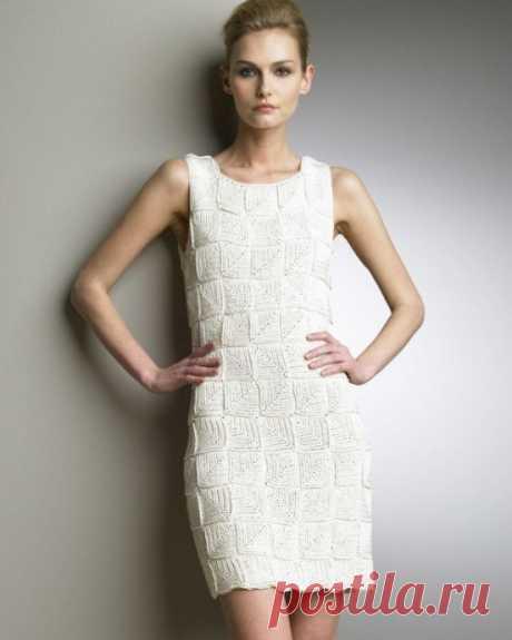 Интересное платье безотрывным вязанием из категории Интересные идеи – Вязаные идеи, идеи для вязания