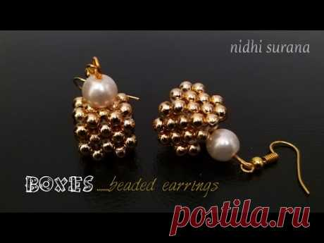 📦Boxes, Beaded Earrings || How to make || Diy Aretes Tutorial (0258)