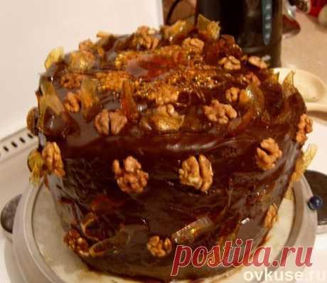 Торт Крученый (шоко бисквит,чернослив и грецкий орех) - Простые рецепты Овкусе.ру