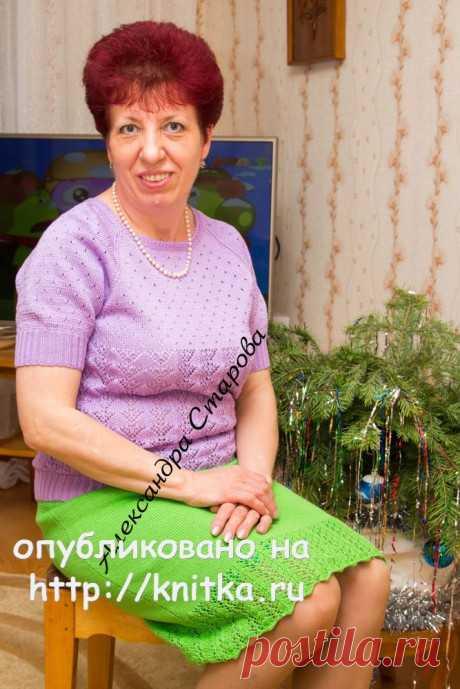 Женский джемпер спицами. Работа Александры Старовой, Вязание для женщин