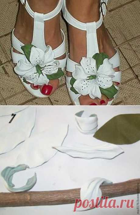 Делаем белые лилии для туфелек - Ярмарка Мастеров - ручная работа, handmade