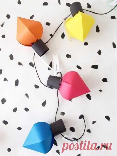 Фонарики из цветной бумаги — DIYIdeas