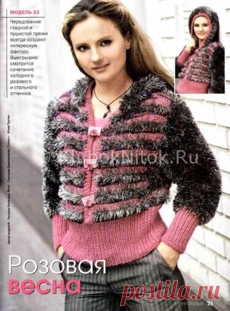 Жакет из травки | Вязание для женщин | Вязание спицами и крючком. Схемы вязания.